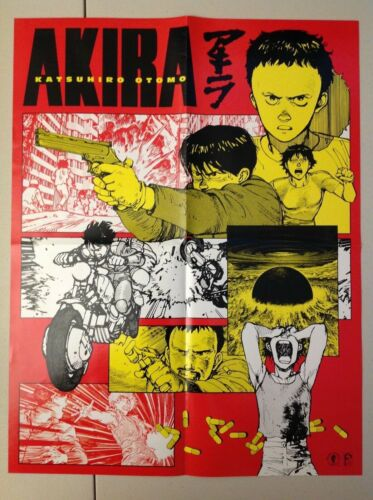 Akira Poster Print Katsuhiro Oromo 2001 Dark Horse Comics Manga Two Sided Rare