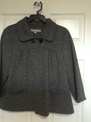 Croft and Barrow Womens Grey Tweed Cape Coat Jacket Size L (New) - Womens Capes
