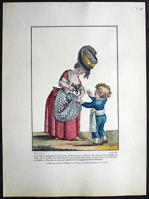 GALERIE DES MODES ET COSTUMES FRANCAIS LECLERC 1778-1787 EAU FORTE - Modes Et Costumes