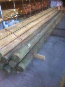Treated Pine Round Post 125-150mm 5.4 H4 Temporary Power Pole Moorabbin Kingston Area Preview