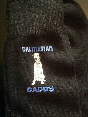 GIFT BOXED DALMATIAN DADDY PRINTED SOCKS BIRTHDAY PRESENT DOGS DAD FATHER MENS