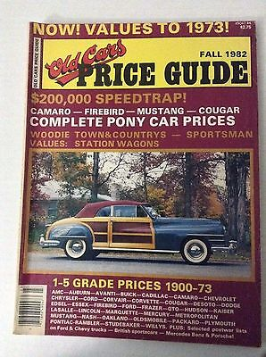 Old Cars Price Guide Magazine Complete Pony Car Prices Fall 1982 covid 19 (Complete Car Cost Guide coronavirus)