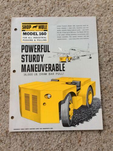1960s  Shop Mule model 160,  original; sales information.