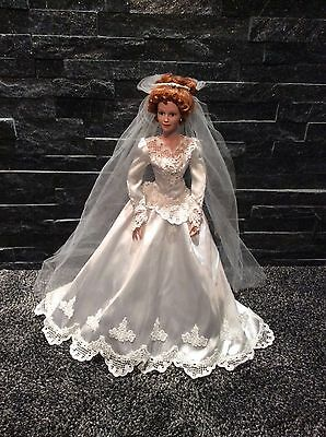 "ASHTON DRAKE 18"" PORCELAIN BRIDE DOLL BY JUDY BELLE"