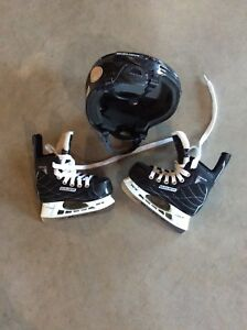 Kids skates and helmet