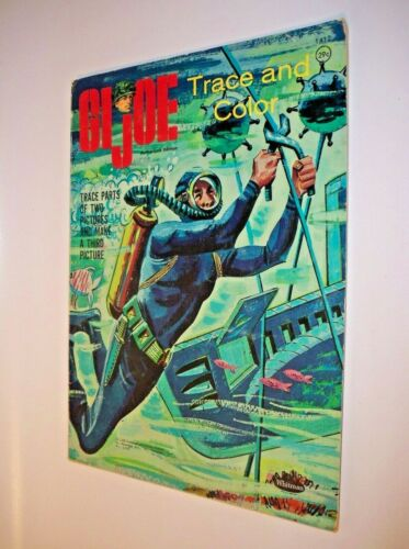 Vintage GI Joe Trace and Color Book Authorized Edition 1965 Hassenfeld Whitman