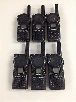 Motorola Cls1110 5-mile 1-channel Uhf 2-way Radio Good Condition Lot Of 6