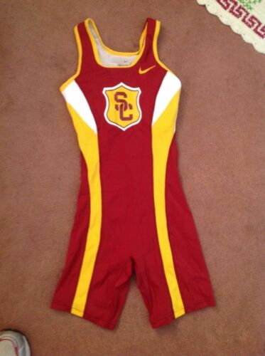 Nike Elite SC USC Womens track and field running singlet unisuit size small pro