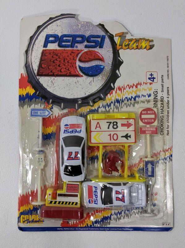 Vintage Golden Wheel Pepsi Team Die Cast Toy Car Set