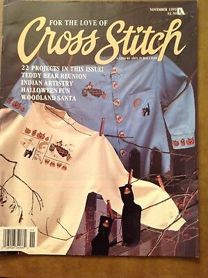 FOR THE LOVE OF CROSS STITCH - NOV 1993 - VERY GOOD - HALLOWEEN FUN - SEE PICS