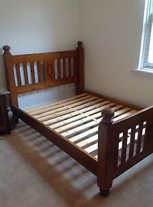 Attractive Quality solid timber queen size bed for sale Woodville Park Charles Sturt Area Preview