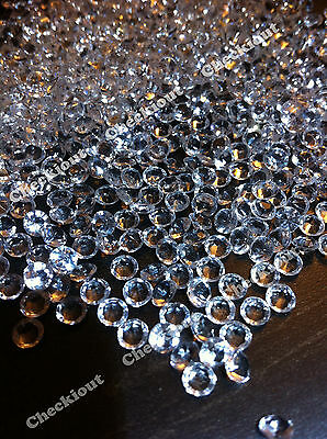 2000 Clear Acrylic Diamond Confetti 4.5mm for Wedding Decoration Table Scatters