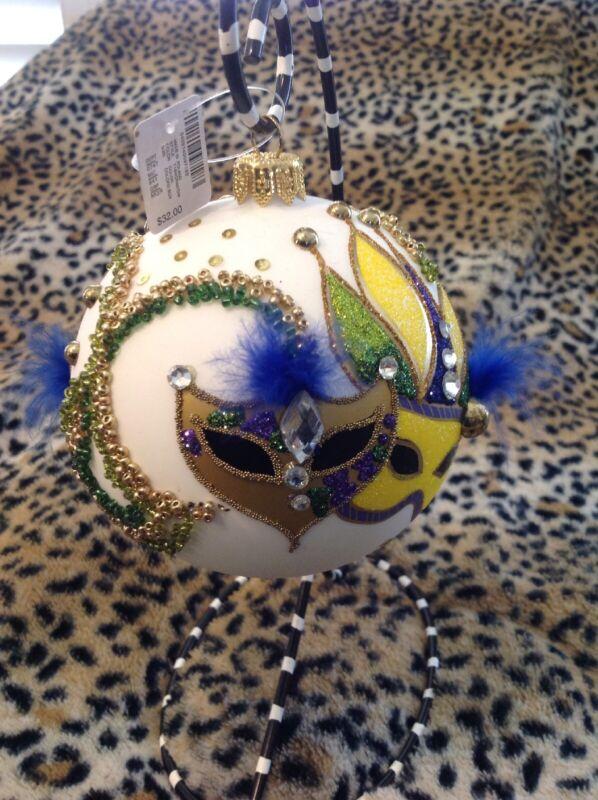 Mardi Gras Ornament Ball ~ Dillard