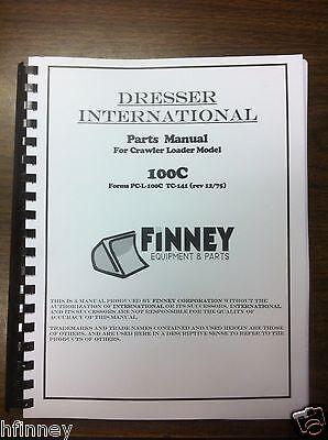 International Dresser 100c Crawler Loader Parts Manual Book Pc-l-100c Tc-141 Ih