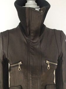DONNA KARAN NEW YORK leather jacket
