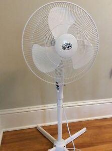 Fan on stand