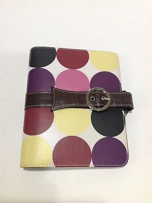 Compact 1 Rings Franklin Covey 365 Planner Binder Dots Rose Brown Yellow