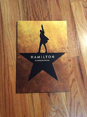 official hamilton the musical broadway souvenir program book lin-manuel miranda
