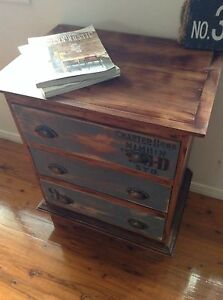 Industrial Bed Side Tables Drawers - Can Deliver Victoria Point Redland Area Preview