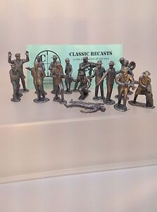 MARX  Untouchables Silver Color Figures, Set Of 16 Recast Figures FREE SHIPPING