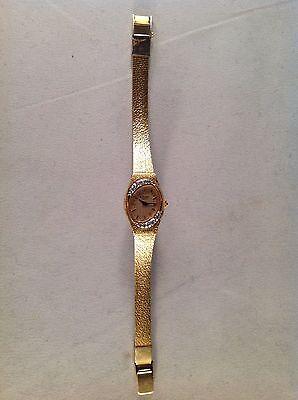 Bulova Goldfarben Oval Gesicht Haken Armbanduhr 6 Lang