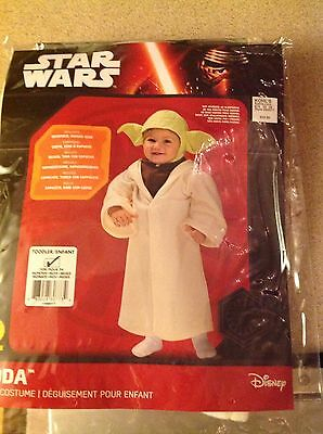 Rubie's Disney Star Wars Yoda Dress Up Costume Size Toddler 24 months NWT - Yoda Dress Up