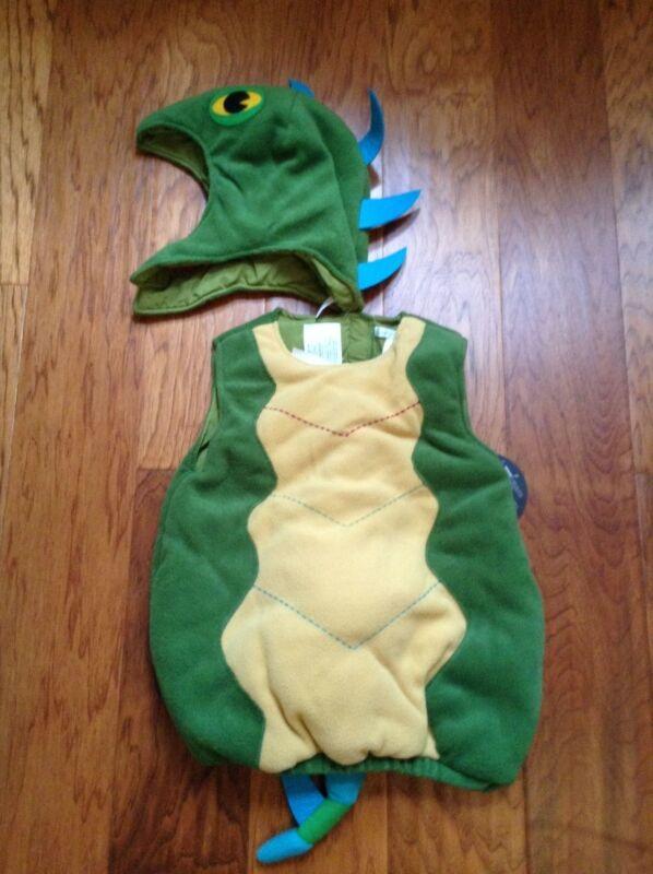New Pottery Barn Kids Iguana Lizard Halloween Costume sz 12-24m Rare Dino? Cute!