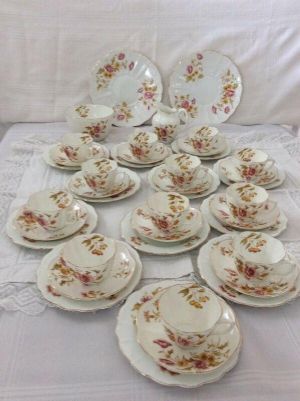 Antique Allertons England 40 Piece Tea set pre 1912 Poppy Pattern.