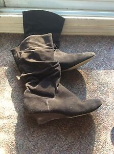 SUEDE BOOTS 8.5