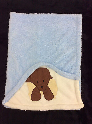 Dolly Baby Blanekt Puppy Dog BLue Peeking Corner Peek A Boo, used for sale  Shipping to Canada