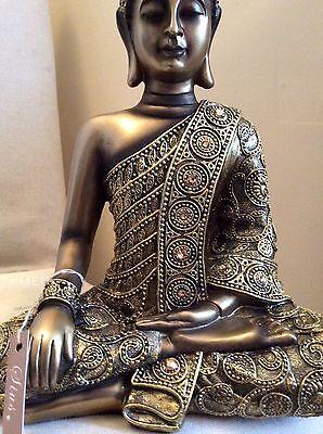 Beautifully Detailed Buddha's Statue. Adorned In COLORADO Swarovski Elements