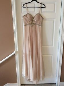 LONG CHAMPAGNE DRESS FOR SALE