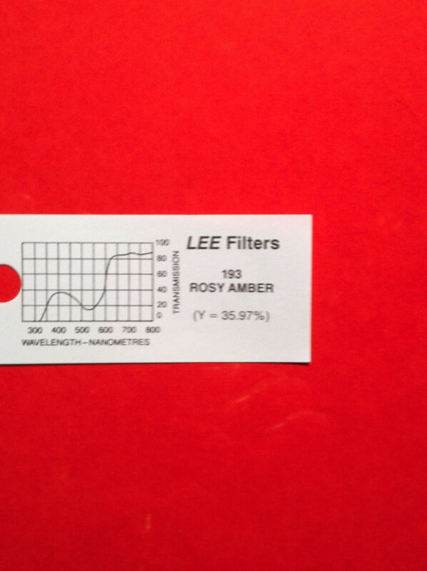 "Lee Filters L193 Rosy Amber Lighting Gel Sheet  21"" x 24"""