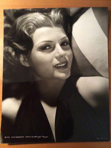 RITA HAYWORTH Original 11x14 doubleweight portrait MGM circa 1940