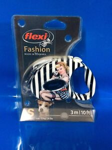 Flexi Fashion Pin-Up  S Small 3m 12kg Rectractable Tape Leash Lead Small Dog