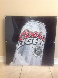 Coors Light Frosted Silver Beer Can 3D Bar Sign  2' x 2'