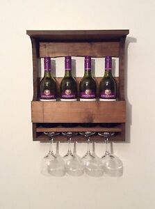 Wine rack made out of recycled pallet wood