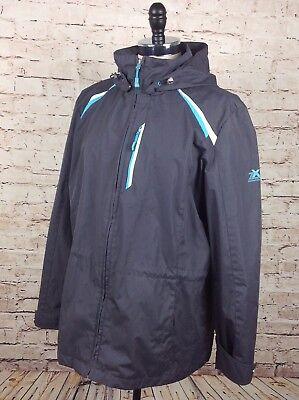 ZeroXposur Womens Winter Jacket XL Gray Nightfall Drawstring Detachable Hood Zip for sale  Shipping to India