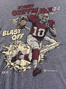 RG3 ROBERT GRIFFIN III Cleveland Browns BLAST OFF Baylor t shirt sz L large