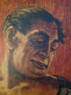 Porträt,Portrait GEORGI DIMITROFF , auf Sperrholz ,farbig,Mischtechnik,gebraucht