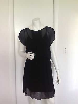 Fashion Women's Black Sheer Dress, by MK Barcelona, Made in Spain, size S