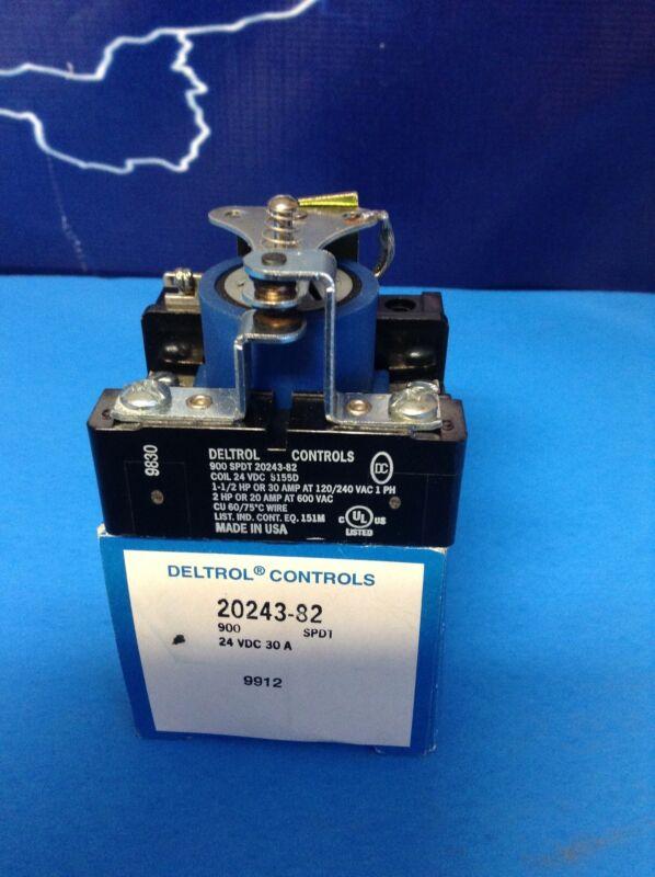 DELTROL CONTROLS SPDT 20243-82 24VDC CONTACTOR ELECTRIC