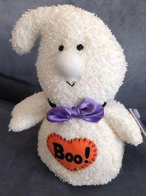 SOFT DREAMS HAPPY HALLOWEEN BOO! WHITE GHOST STUFFED ANIMAL 8