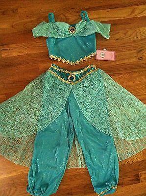 NEW! DISNEY WORLD Aladdin Princess JASMINE 2PC Fancy Dress COSTUME M 7/8](Jasmine Costume Teen)