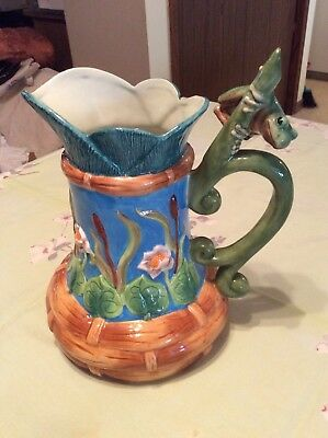 "House Of Hatten Peggy Fairfax Herrick Frog Pitcher 10"" Tall Nice"