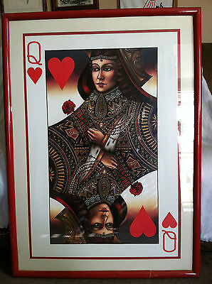 Collectible Rare Giant Framed Poster Of The Queen Of Hearts 31x42 (framed) Giant Framed Poster