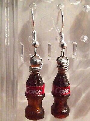 Coke Bottle Earrings Handcrafted Fashion Jewelry FUN~2~Cool~4~School~NEW~1~PAIR