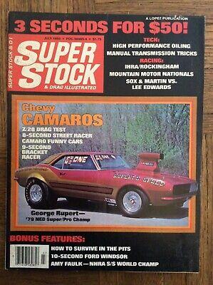 80 Super Stock & Drag Illustrated NHRA Racing Camaro Issue Shumake Faulk Larson