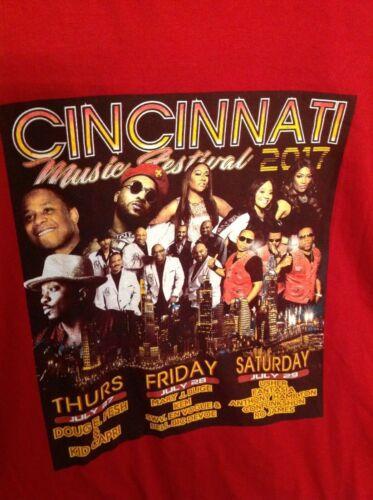 Cincinnati Music Festival 2017 Tour Concert T Shirt Usher Mary J Blige XL *WoW*