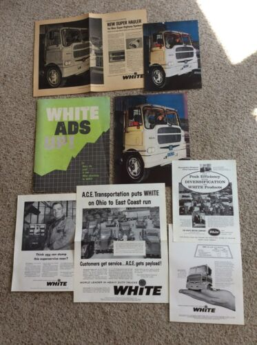 1959 White Heavy-duty truck  inhouse dealers advertising kit portfolio for march
